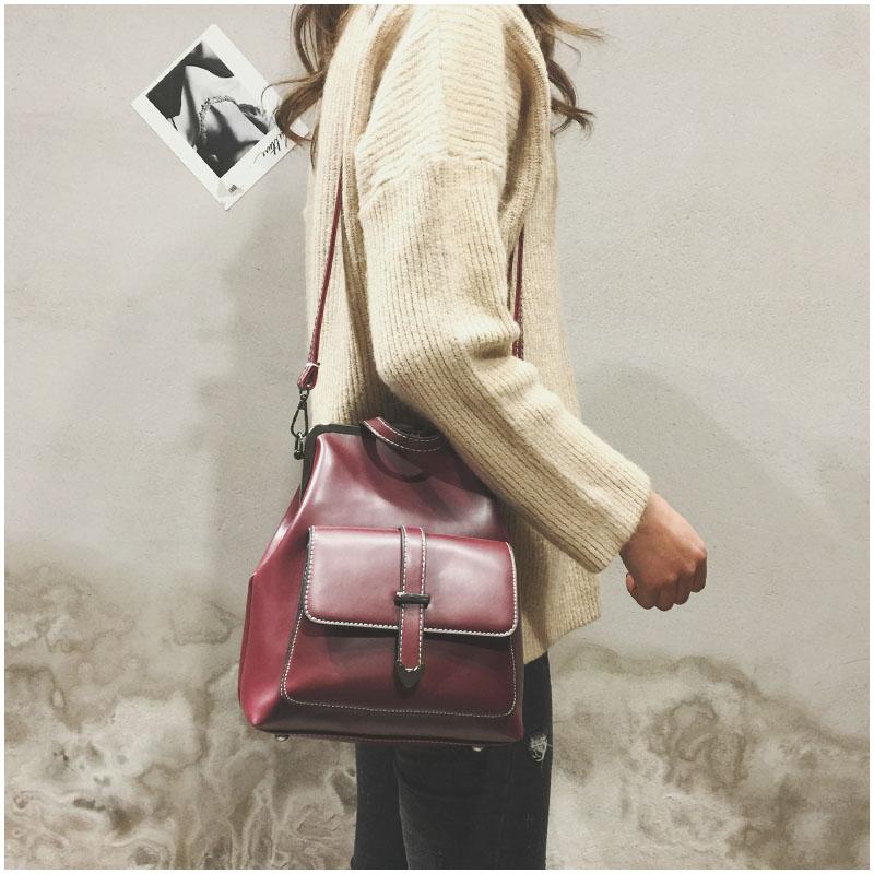 HTB11doMngDD8KJjy0Fdq6AjvXXam LEFTSIDE Brand 2018 Retro Hasp Back Pack Bags PU Leather Backpack Women School Bags For Teenagers Girls Luxury Small Backpacks