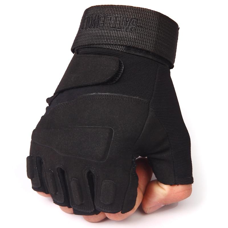 Wojskowe taktyczne rękawice CS Męskie mechanik Siłownia Fitness Walka Rękawice bojowe Army OPS Commando Commander Przeciwpoślizgowe Half Finger Glove