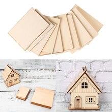 10 шт./пакет деревянная тарелка модель листы древесины DIY House украшения корабль летательный аппарат для изготовления пресс-форм ручной работы летательных аппаратов