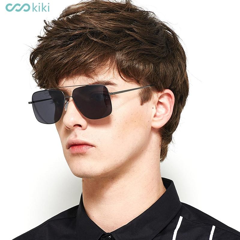 67764ed6a6 KIKI Men Non-Polarized Nylon Sunglasses Brand Designer 2017 Square Glasses  Driving For Men s Rectangle