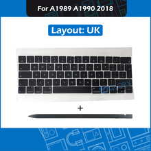 Wholesale For Macbook Pro Retina 13″ 15″ A1989 A1990 Keycaps Complete set UK Layout with Crowbar Repair Keyboard Mid 2018