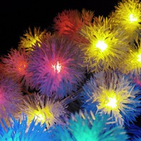 10M 80LEDs Colores Copos De Nieve Snowball Flakes LED String Lights Holiday Wedding Party Decotation Lightings