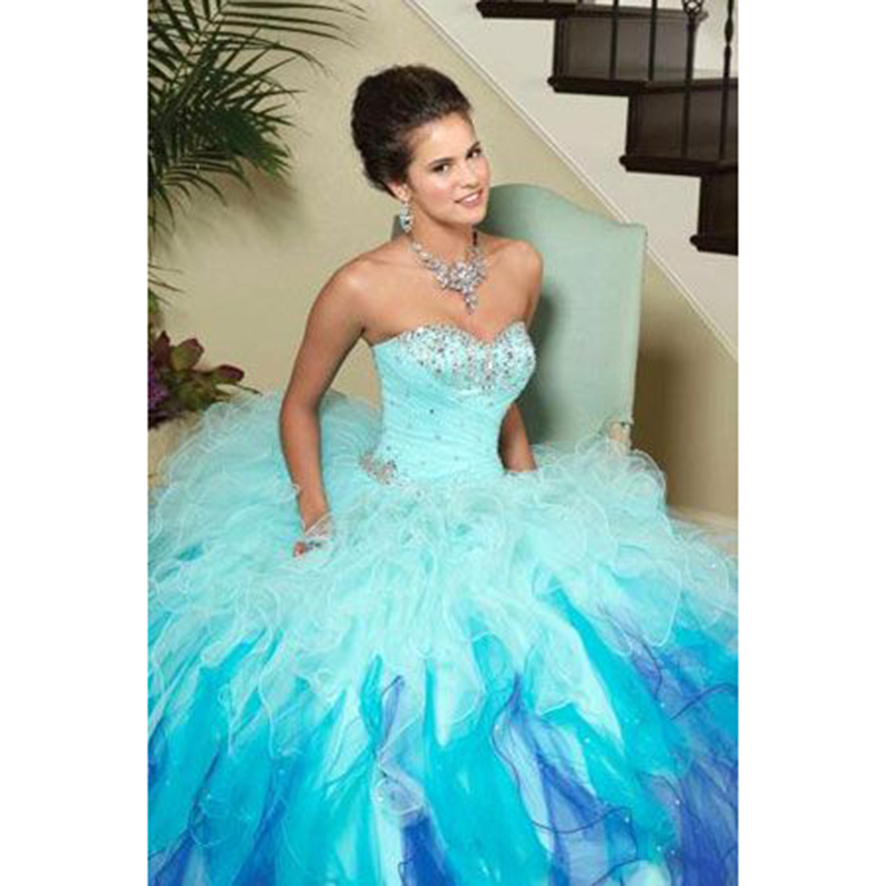 Aliexpress.com : Buy Hot Pink Quinceanera Dresses Gradient Tulle ...