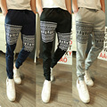 Pantalones Direct Selling Mid Hot Sell 2016 Men Pants Trend Of Korean Foreign Trade Small Skull Printed
