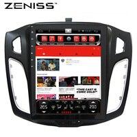 ZENISS 10,4 дюймов автомобиля gps Android Тесла экран радио для FORD FOCUS3 2012 2015 с кондиционер синхронизации руля поддержка колеса