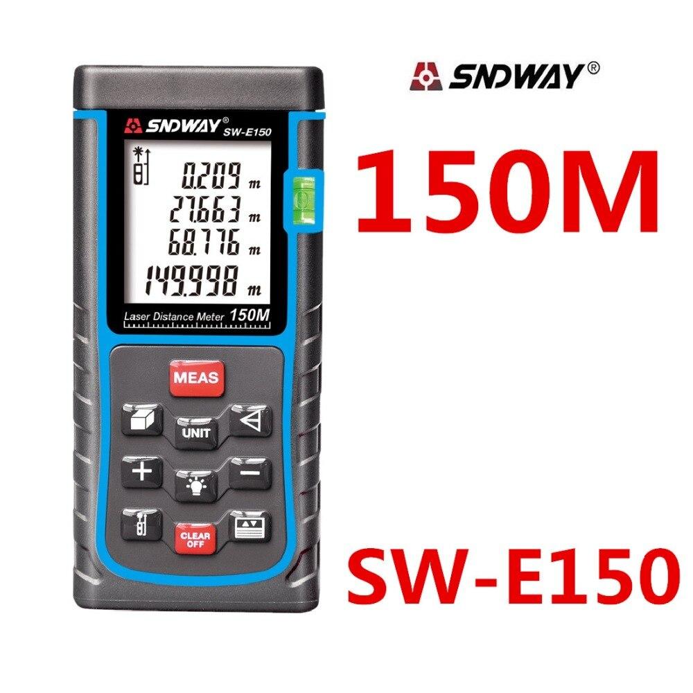150 м sndway цифровой лазерный дальномер Клейкие ленты измерить disitance/область/объем m/ft/в дальномер finder правитель рулетка