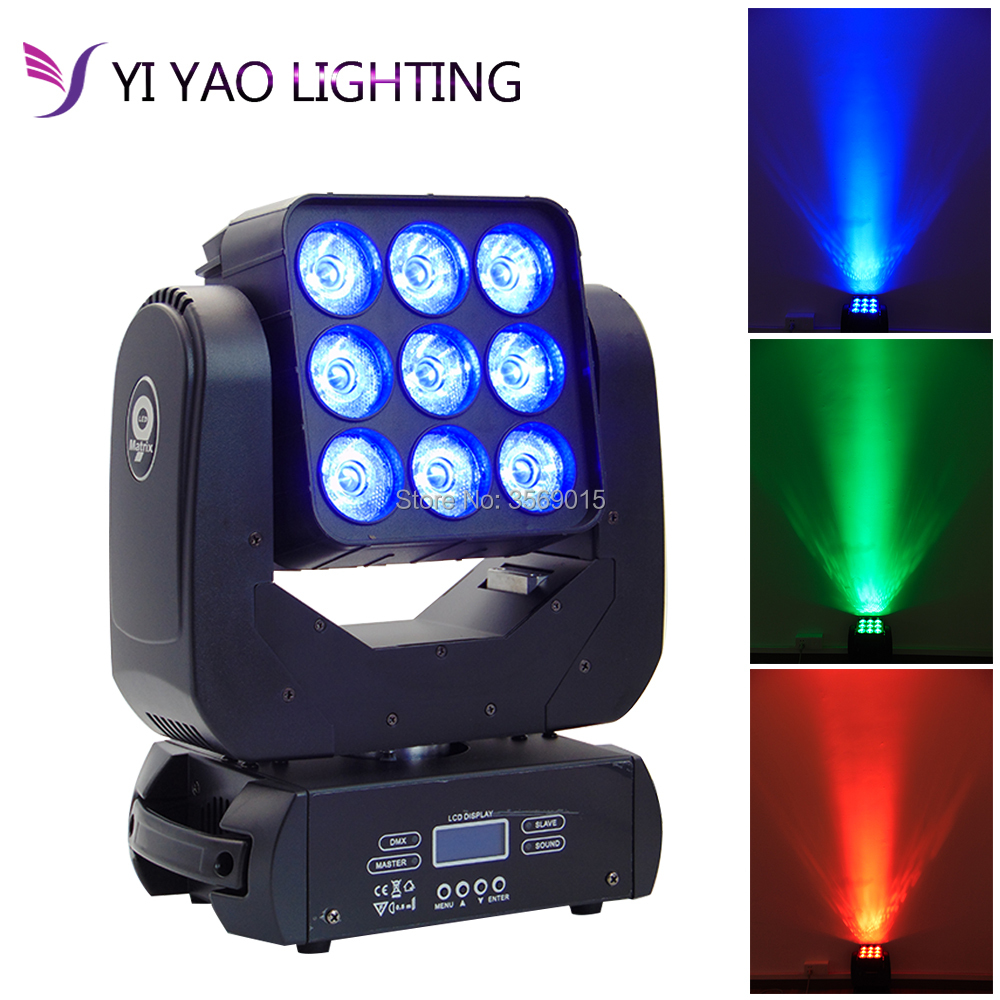 Lights & Lighting Commercial Lighting 9x12w Moving Head Beam Light Mini Matrix Light Rgbw 4in1 Stage Lighting Effect Beam Disco Light