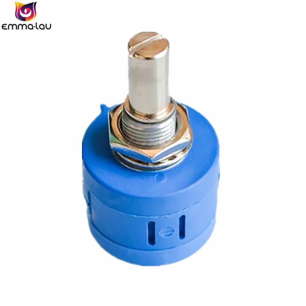 1PCS <font><b>3590S</b></font> 100K Ohm <font><b>3590S</b></font> <font><b>2</b></font> <font><b>103L</b></font> Rotary Wirewound Precision Potentiometer Pot 10 Turns Adjustable Resistor image