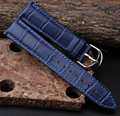 Faixa de relógio 12 mm 14 mm 16 mm 18 mm 20 mm 22 mm das mulheres dos homens azul escuro 100% genuíno couro de crocodilo de grãos relógio de pulseira Band pulseiras