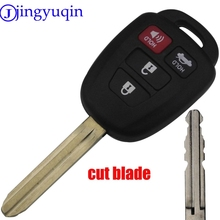 jingyuqin cut blade4 Buttons Car Key Shell Case Fob Cover For Toyota CAMRY 2012 2013 2014 2015 Corolla 2014 2015 With TOY43