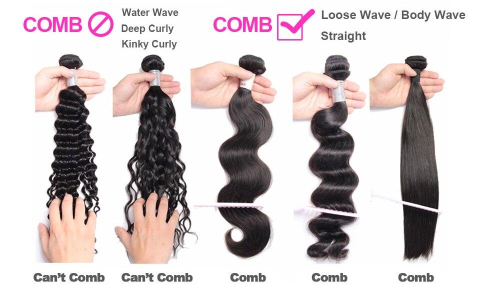 Brazilian Deep Wave Bundles with Closure 100% Human Hair Extensions with Closure Non-Remy 3 Bundles with Closure X-Elements Hair (9)