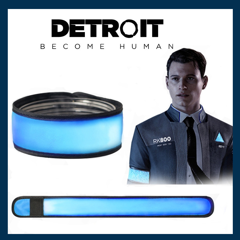 New Detroit: Become Human Cosplay Connor Kara LED Light Luminous Armband Armlet Arm Band Ring Cosplay Props RK800 Accessories