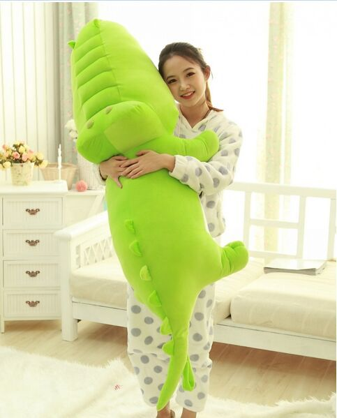 ФОТО huge lovely crocodile toy plush cartoon crocodile doll big green crocodile toy gift about 150cm