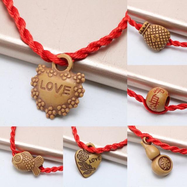 f87ff12a9d Tibetan Buddhist Love Lucky Charm Red Thread String Bracelet Lucky Rope  Bracelet Handmade Rope for Women