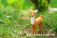 13 4 16cm Reindeer Sika Deer Toy Polyethylene Furs Resin Handicraft Decoration Baby Toy Christmas