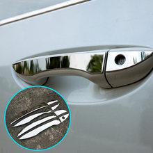 Garniture de poignée de porte chromée, protection de recouvrement de lunette en acier inoxydable, 2014, 2015, 2016, TOYOTA COROLLA E170, 2017