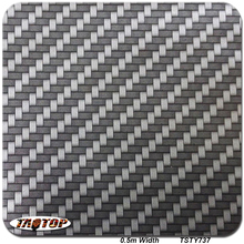 TSTY737 0.5m *10m silver Carbon Fiber Pattern PVA Water Transfer Printing Film(China)
