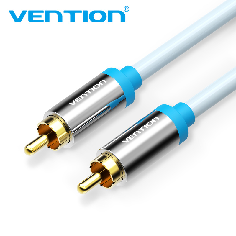 Vention RCA To RCA Cable High Quality And Digital Coaxial Audio Video RCA Cable 1m 1.5m 2m Cable for TV Amplifier Home for DVD pureglare compatible tv lamp for rca hd61lpw167yx2