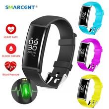 Smarcent X9 смарт-браслет сердечного ритма Smart Band Приборы для измерения артериального давления Мониторы смарт-браслет Фитнес трекер SmartBand PK ID115 ID107