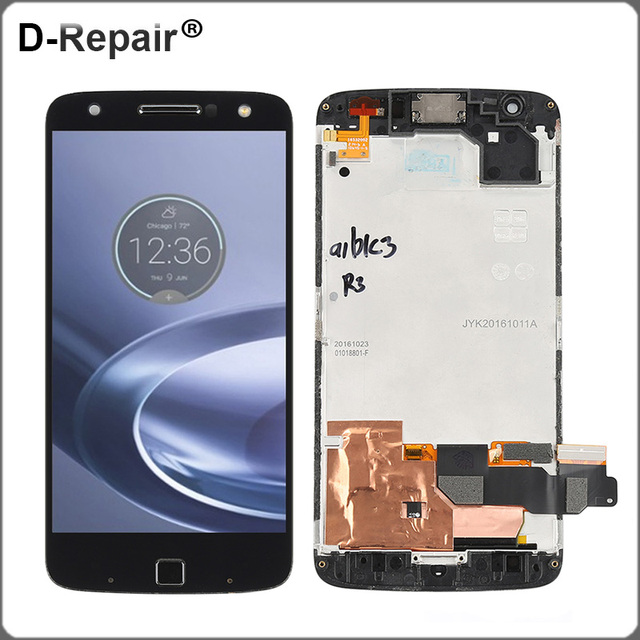 US $38 17 40% OFF|LCD For Motorola Moto Z Force Droid XT1650 02 LCD Display  Touch Screen Digitizer Frame Replacement For Moto Z Force Droid LCD-in