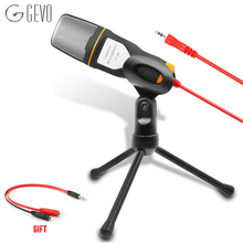 2015 NEW  High Quality Wired Stereo Condenser Microphone with Holder Clip for Chatting Singing Karaoke PC Laptop SF-666   стоимость