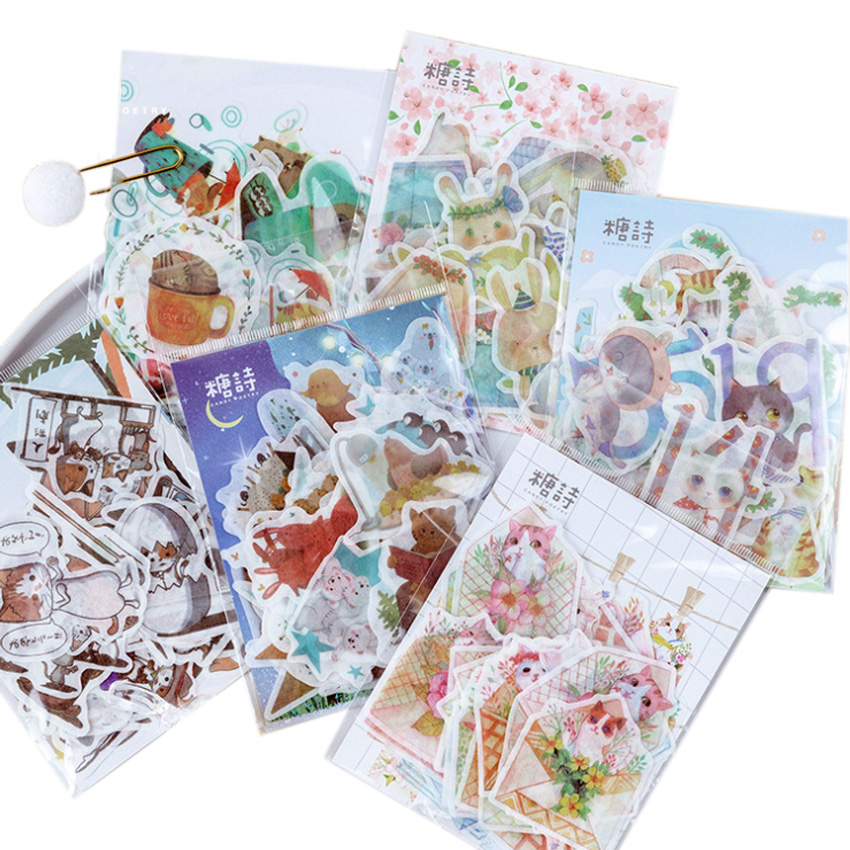 12packs/lot Paper Stationery Stickers Decorations Scrapbooking Diary Albums Summer Concerto Series Six Selections