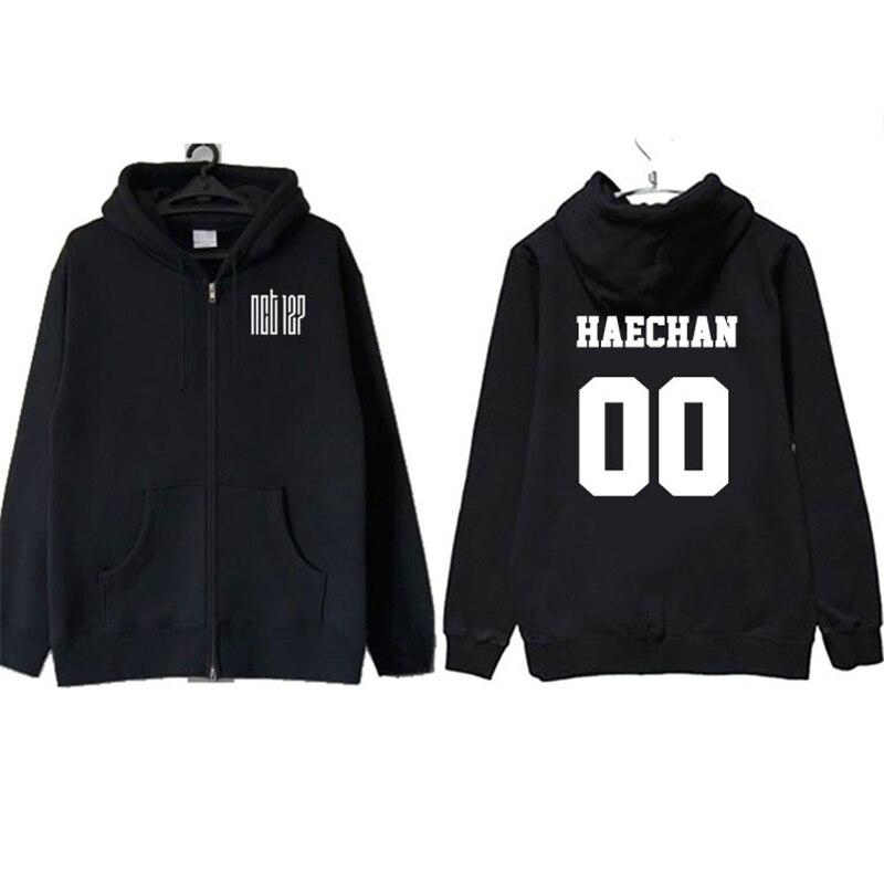ONGSEONG Kpop NCT 127 JAEHYUN TAEYONG Album Zipper Hoodie K-POP Hoodies  Clothes Pullover Printed Long Sleeve Sweatshirts WY418