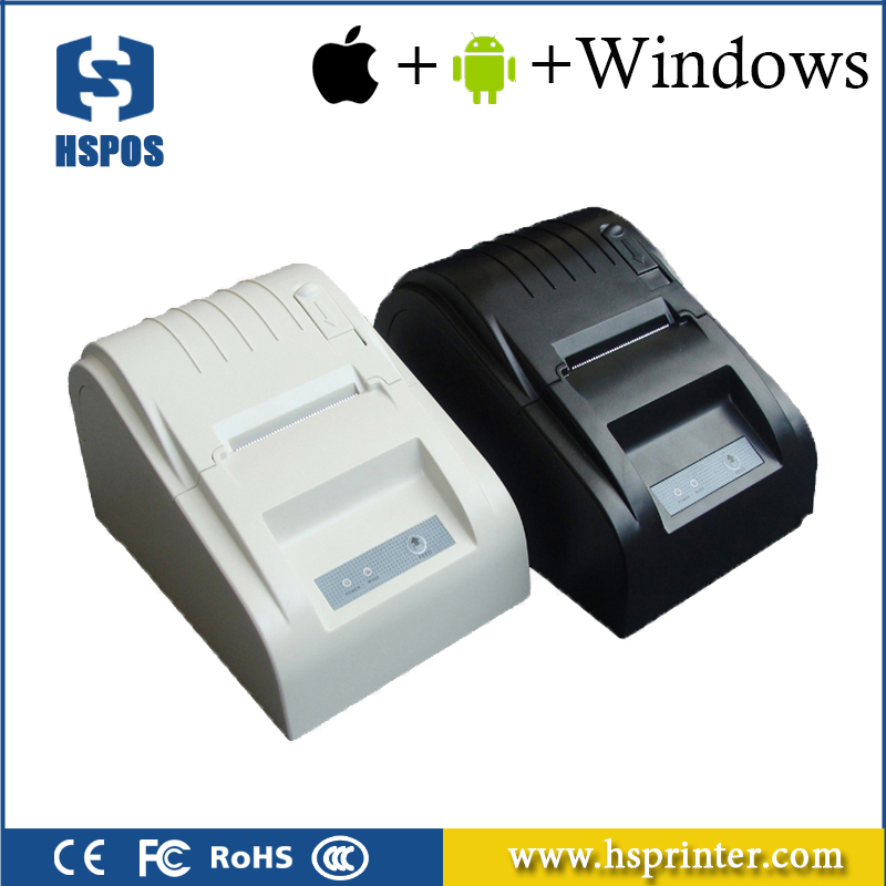 Thermal pos printer 58mm 5890T usb serial parallel lan port receipt printing machine for supermarket e488 thermal panel printer with serial interface mini pos printer embedded printing machine