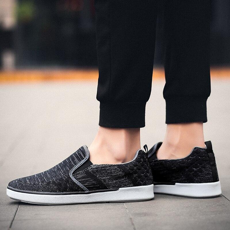 CYYTL Performance Men's Loafers Soft Flyknit Slip-On Walking Shoes Spring Casual Male Sneakers Zapatos de Hombre Erkek Ayakkabi (34)