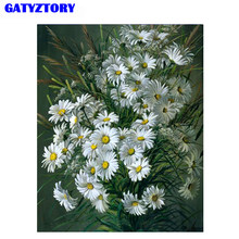 GATYZTORY Flowers DIY Painting By Number Acrylic Paint On Canvas Hand Painted Oil Painting Unique Gift For Home Wall Art Picture(China)