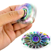 Reduce Stress Hand Spinner EDC Metal Finger Hand Fidget Spinner Toy Raytheon Electroplating Alloy Gyro Relieve