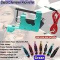 TOP Green stealth Tattoo Machine Rotary Tattoo Machine Motor Gun Liner Shader  for Tattoo Kits Supply  Free Shipping