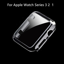 Wholesale1PC 38/42mm Transparent Frame Case Clear Ultra Thin PC Protective Cover For Apple Watch Series 3  2 1 black clear
