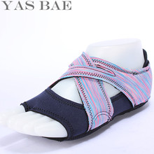 Yas Bae Sale Design Cross Straps Indoor Slip Resistant Breathable Light Weight Yoga Shoes for Women Purple