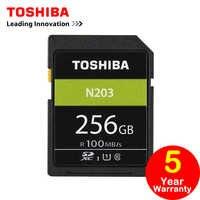 Toshiba SD Memory Card 256G UHS U1 128G 100M/s 32GB SDHC Card SD 64GB SDXC Card Flash 16G U1 For Digital SLR Camera Camcorder DV