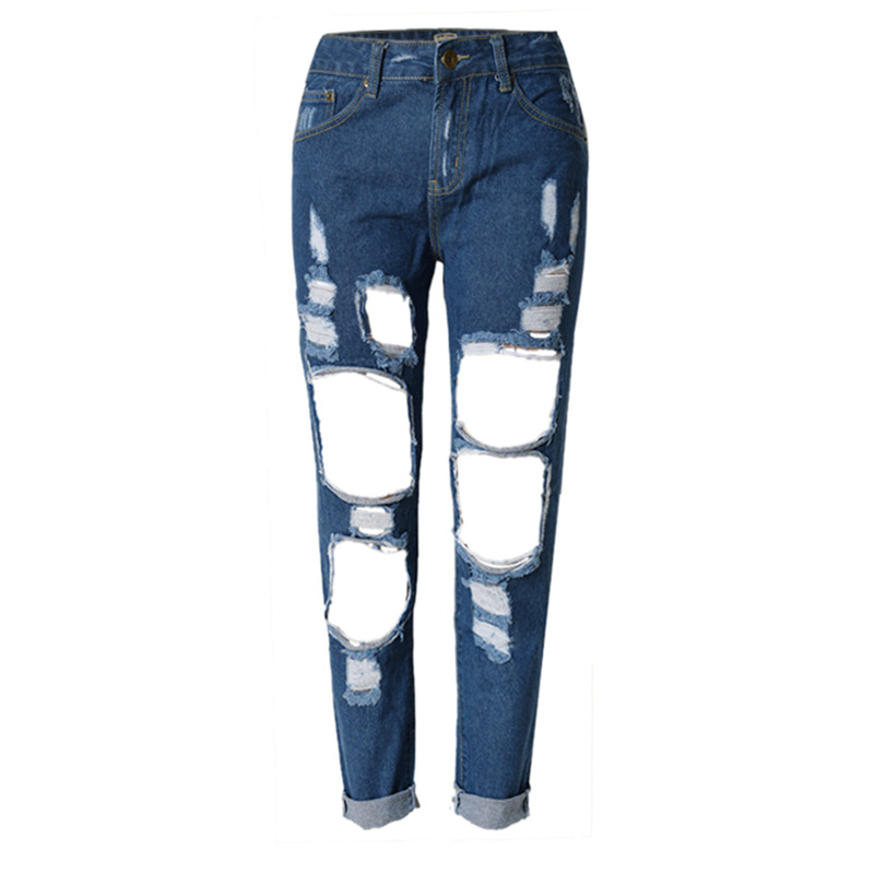 664a63e44fc578 Ripped Mom Boyfriend Jeans for Women Pants Hollow Out High Waist Denim  Jeans Plus Size 5 Colors-in Jeans from Women's Clothing on Aliexpress.com    Alibaba ...