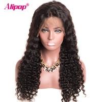180 Density Full Brazilian Deep Wave Wig Lace Front Human Hair Wigs ALIPOP Lace Human Hair
