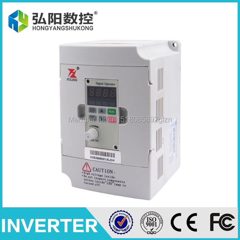 цена на FULING frequency inverter of 220v 1.5kw VFD Variable Frequency Drive VFD Inverter 1HP or 3HP Input 3HP frequency inverter