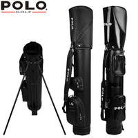 brand POLO 7 9 pieces clubs holded easily golf gun bag golf bag rack, golf rack tripod backpack bag water proof wear resistant