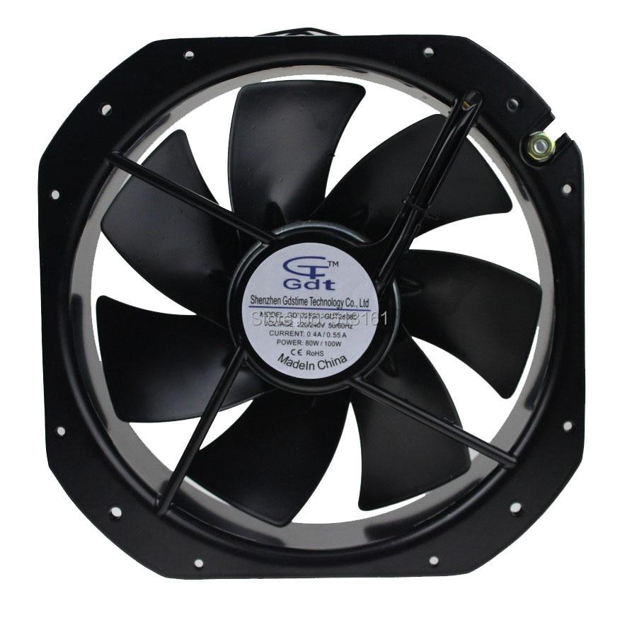 Gdstime AC 220V 240V Axial Industrial Cooling Fan 280mm * 280mm * 80mm new original ka8025ha2 ac 220v 8cm cm axial fan industrial cooling fan