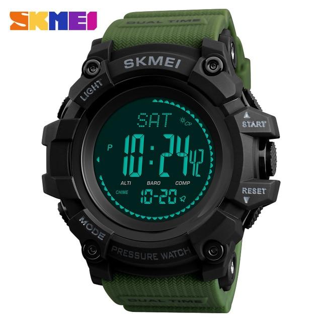 8dfa84dc9b0 Homens Relógios Desportivos SKMEI Marca Pressão da Contagem Regressiva do  Relógio Horas Altímetro Bússola Termômetro Digital