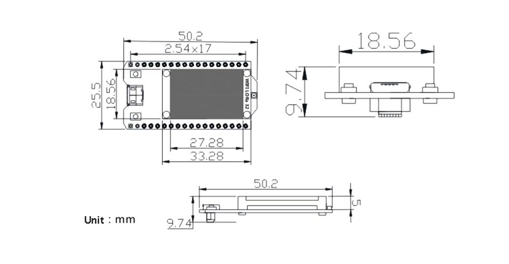 US $15 49 10% OFF|SX1276 ESP32 LoRa Bluetooth Wifi Development Board Dual  Mode 0 96