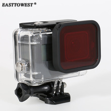 Easttowest Gopro Hero 5 Accessories 45m Waterproof Housing Underwater Diving Case + Red Filter for Gopro Hero 5 Black