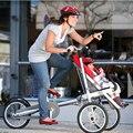 Não Bicicleta Taga Carrinho De Bebê Da Marca 16 Polegada Dobrável carrinho de Bebê Carrinho De Criança Do Bebê Mãe Bicicleta Taga Bicicleta Carrinho De Criança Taga Bicicleta Carrinho de Reboque