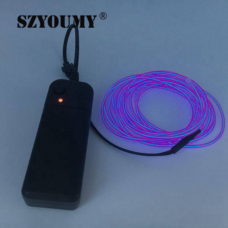 SZYOUMY LED Neon Light EL Strip Tube Wire Rope Output Connector ...