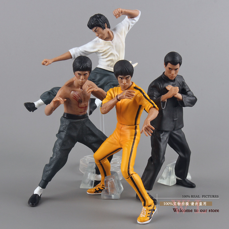 Bruce Lee King of Kung Fu PVC Action Figures Collection Toys 4pcs/set New in Box image