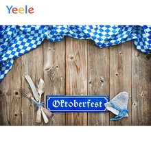 Yeele Oktoberfest Party Photocall Wood Tablewares Photography Backdrops Personalized Photographic Backgrounds For Photo Studio