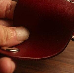 Image 3 - Retro Beste leder schlanke zigarette box mit leichter fall rauchen zubehör Bauchtasche zigarette packs abdeckung