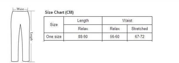 Legging Size Chart