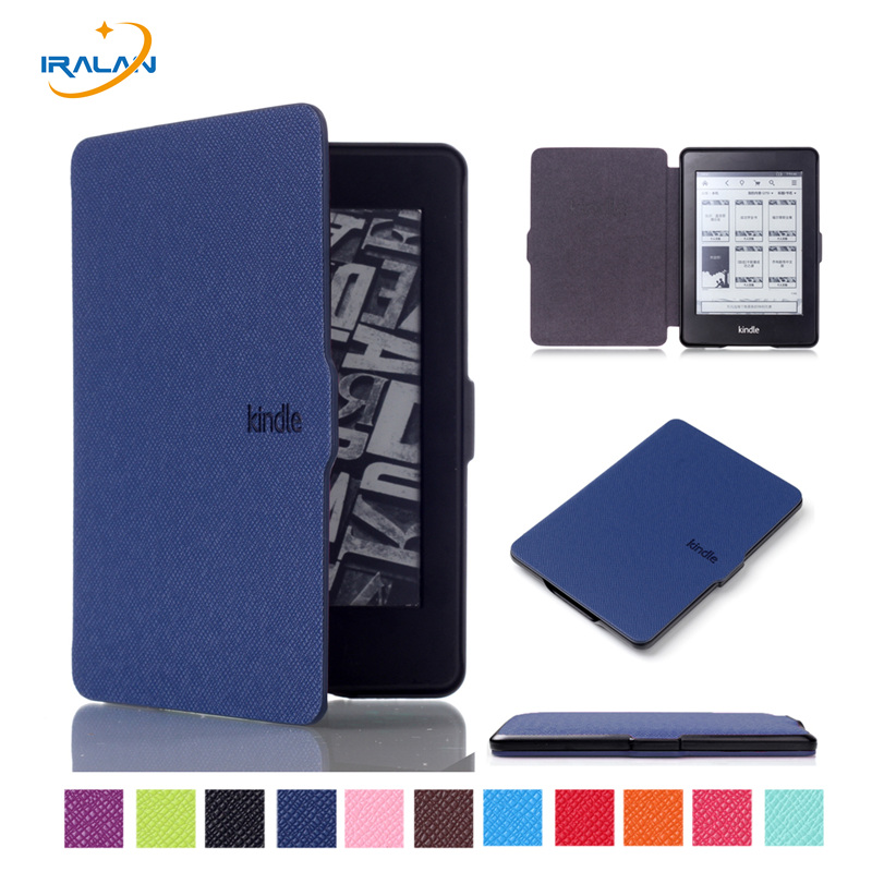 PU Leather Ultra thin Case For Amazon Kindle Paperwhite 123 smart Magnetic Design Cover for Kindle 958 6th generation+free pen цены онлайн